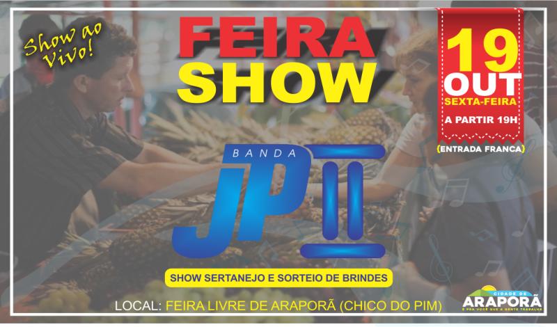 Imagem destaque notícia PREFEITURA REALIZA MAIS UMA EDIÇÃO DA FEIRA SHOW