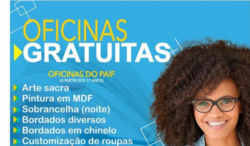 Imagem destaque notícia INSCRIÇÕES ABERTAS PARA AS OFICINAS DO CRAS