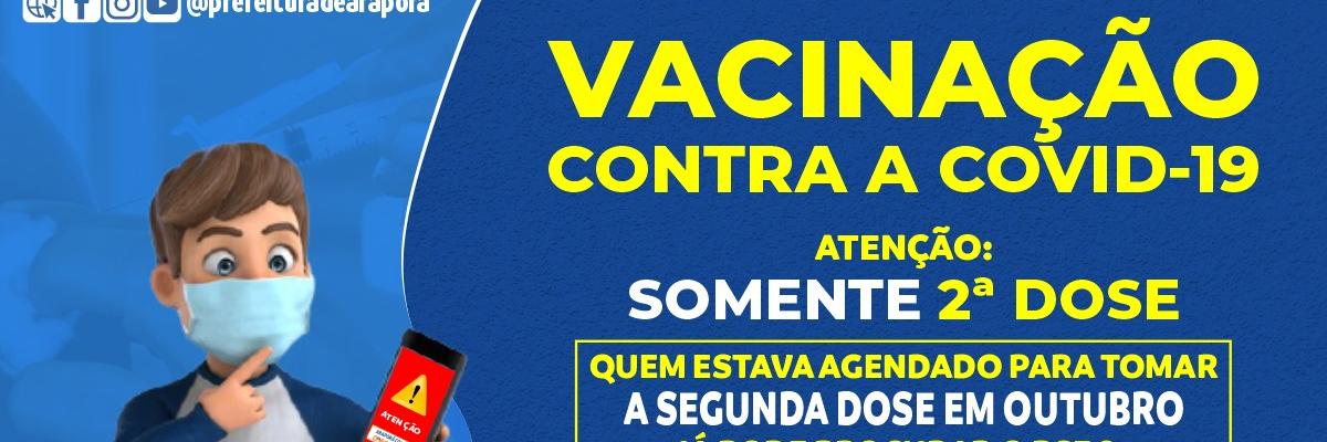 Imagem destaque notícia TEM AGENDAMENTO DE VACINA NO MÊS DE OUTUBRO? ENTÃO CORRE PRA VACINAR