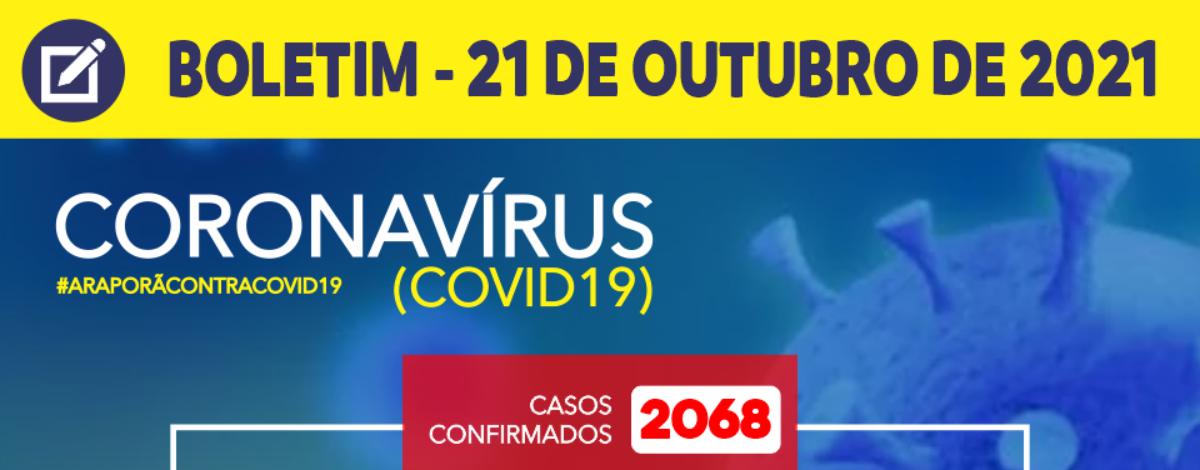 Título notícia BOLETIM CORONAVÍRUS - 21/10/2021