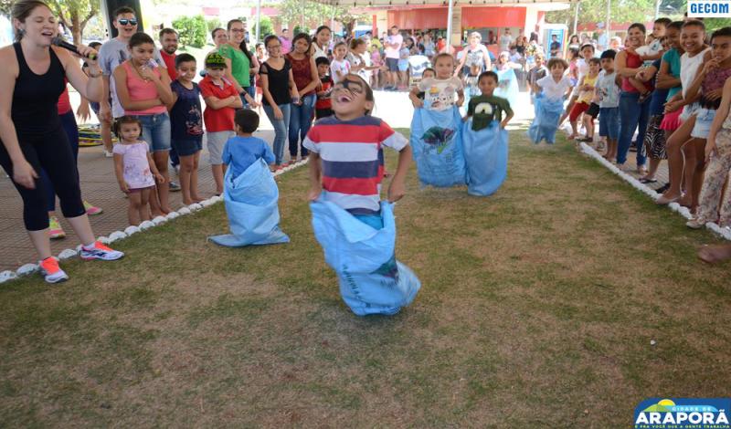 Imagem destaque notícia Prefeitura de Araporã comemora Dia das Crianças com Rua de Lazer