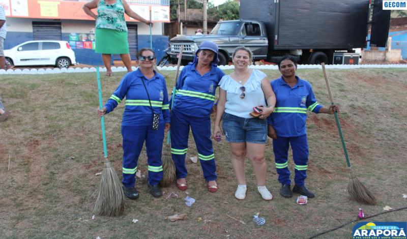Imagem destaque notícia Equipe de limpeza é elogiada depois da realização da Rua de Lazer